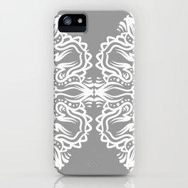 Gray Mandala iPhone Case