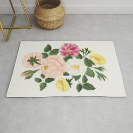 June Roses by Mary Altha Nims (1817-1907) Rug