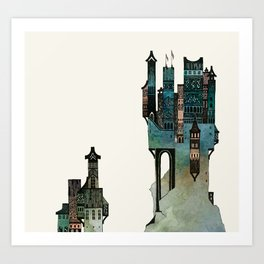 mountain castle Art Print