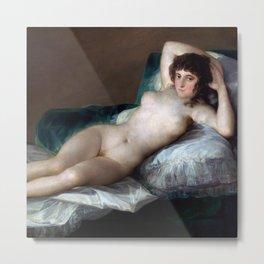 "Francisco Goya ""The nude Maja"" Metal Print"