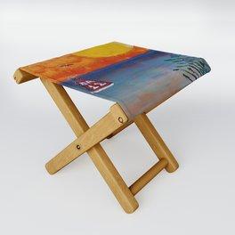 Tropical Beach Folding Stool