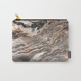Brown Marble Texture Carry-All Pouch