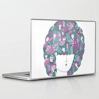 hair Laptop & iPad Skins featuring Hair by Regina Rivas Bigordá