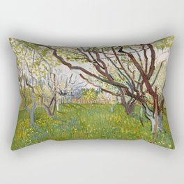 Flowering Orchard by Vincent van Gogh Rectangular Pillow