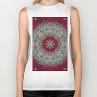 light Biker Tanks featuring Mandala Nada Brahma  by Elias Zacarias