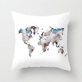 world map 73 Throw Pillow