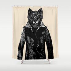 DapperWolf Shower Curtain