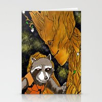 superheros Stationery Cards featuring We are Groot by Tiffany Saffle