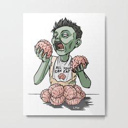 Zom-nom-nom-bie Metal Print