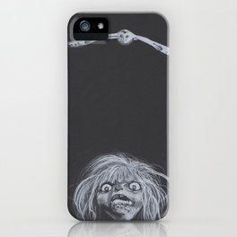 Charcoal Drawing of Goblin and Owl - Labyrinth iPhone Case