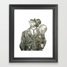 In which nothing says happy birthday like a fish in a suit Framed Art Print