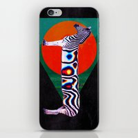 zebra iPhone & iPod Skins featuring Zebra by Ali GULEC