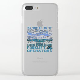 Forklift Operator Woman Clear iPhone Case