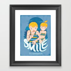 Smile: It's contagious. Framed Art Print
