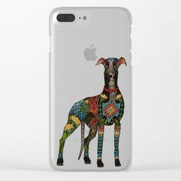greyhound orange Clear iPhone Case