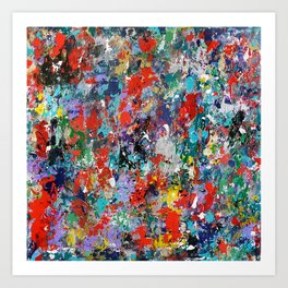 Abstract background painting 78 Art Print