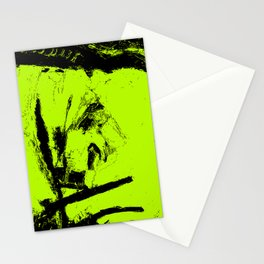 Abstract Green digital art Stationery Cards