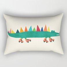 Crocodile on Roller Skates Rectangular Pillow