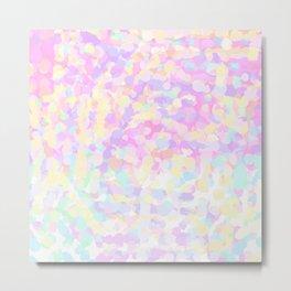 Sunfetti Pillow Metal Print