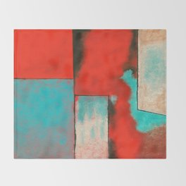 The Corners of My Mind, Abstract Painting Throw Blanket