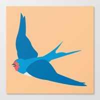 swallow Canvas Prints featuring Swallow by Graeme Luey