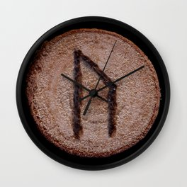 Uruz Elder Futhark Rune determination, persistence, freedom, courage, will, territoriality Wall Clock