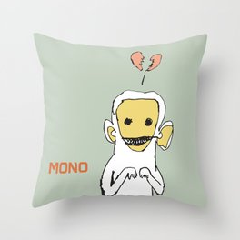 mono Throw Pillow