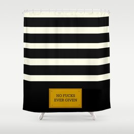 Gold Plated Nonsense Shower Curtain