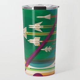 NASA Retro Space Travel Poster The Grand Tour Travel Mug