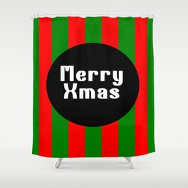 merry Xmas funny logo pattern Shower Curtain