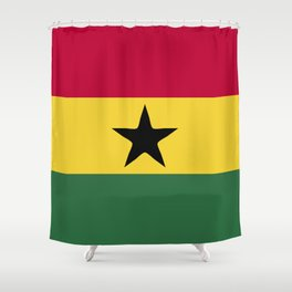 Ghana flag emblem Shower Curtain