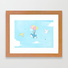 Penguins Can Fly! Framed Art Print