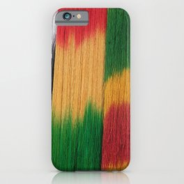 Colorful Hand Dyed Wool Yarn iPhone Case