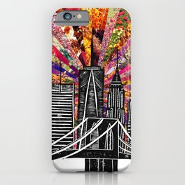 Linocut New York Blooming iPhone Case