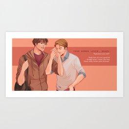 your demon lover, brady (supernatural) Art Print