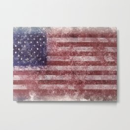 US Flag vintage worn out Metal Print