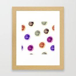 Psychedelic Citruses Framed Art Print