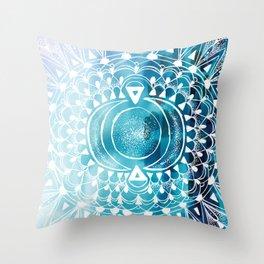 Mytic Moon Throw Pillow