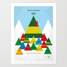 No699 My ELF minimal movie poster Art Print
