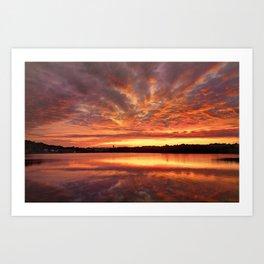 Red Burning Sky Art Print