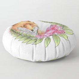 Fox in Bloom Floor Pillow