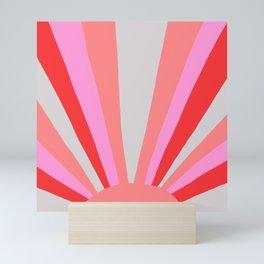 sunshine state, coral Mini Art Print