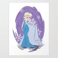 elsa Art Prints featuring Elsa by LarissaKathryn