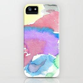 Multicolor watercolor iPhone Case