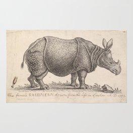 Vintage Rhino Rug