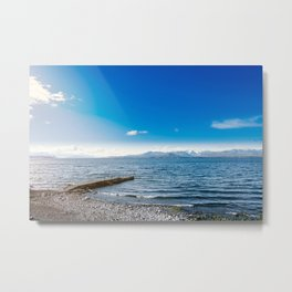 Quiet coast in the lake Metal Print