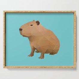Capybara Polygon Art Serving Tray