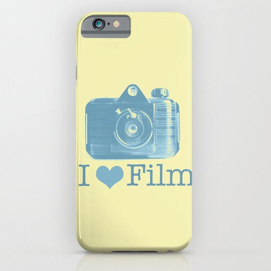 I ♥ Film (Yellow/Blue) iPhone & iPod Case