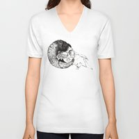 study V-neck T-shirts featuring Skull study by Polkip