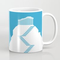 greece Mugs featuring GREECE by Marcus Wild
